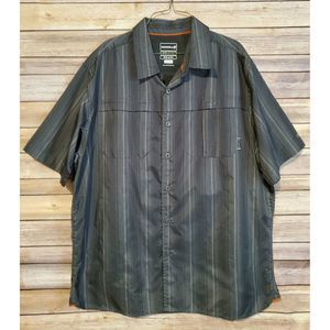 Merrell outdoor black button up shirt mens XL